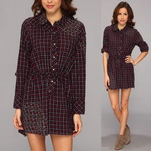 Chaser Button Down Embroidered Dress
